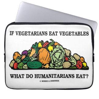 Vegetarier essen Gemüse, was Menschenfreunde tun Computer Schutzhülle