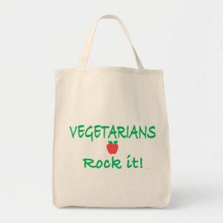 """""""Vegetarier-Felsen es!"""" Tragetasche"""