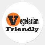 Vegetarier freundlich runde sticker