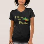 Vegetarier für das Leben - ich laufe auf Pflanzen Hemd