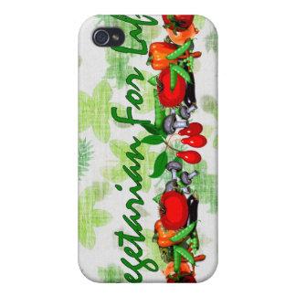 Vegetarier für das Leben iPhone 4 Cover