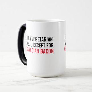 Vegetarier, gut außer Speck - Kaffee-Tasse Verwandlungstasse