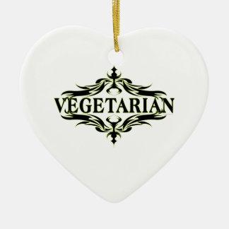 Vegetarier Keramik Ornament