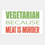Vegetarier Rechteckige Aufkleber