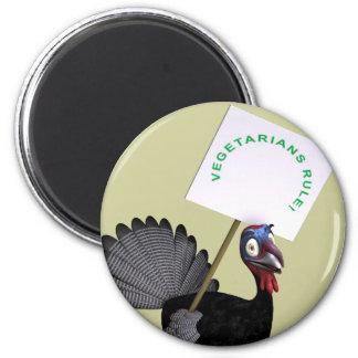 Vegetarier-Regel! Runder Magnet 5,1 Cm