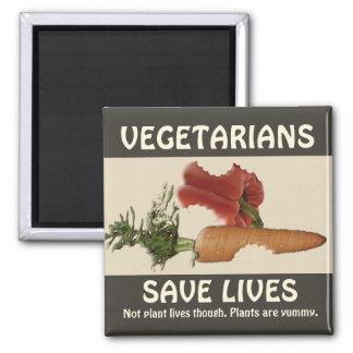 Vegetarier retten die Leben Quadratischer Magnet