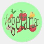 Vegetarier Runder Sticker