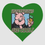 Vegetarier sind cool aufkleber
