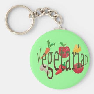 Vegetarier Standard Runder Schlüsselanhänger