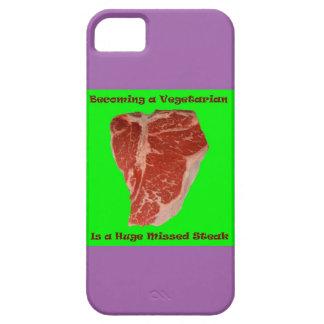 Vegetarier verfehlte Steak iPhone 5/5S Fall iPhone 5 Schutzhüllen