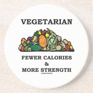 Vegetarier weniger Kalorien u. mehr Stärke Untersetzer