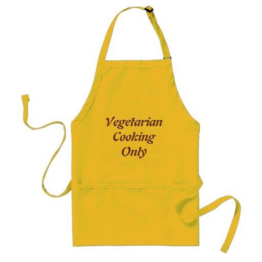 Vegetarische Cookings nur Schürze