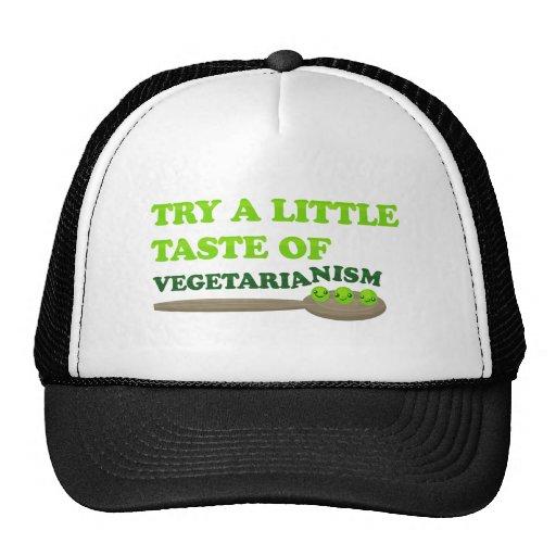 Vegetarische Erbsen Truckerkappen