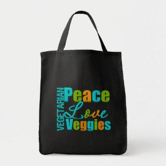 Vegetarische FriedensLiebeVeggies Tragetaschen