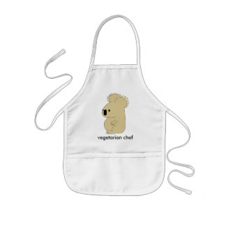vegetarische Kochs-Schürze des Kindes Kinderschürze