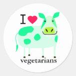 Vegetarische Kuh-Aufkleber