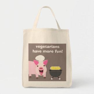 Vegetarische Schwein-Einkaufstüte Einkaufstasche