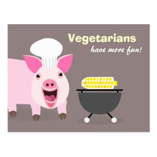 Vegetarische Schwein-Postkarte