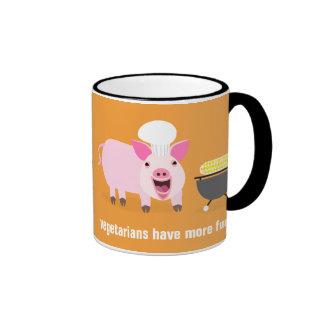 Vegetarische Schwein-Tasse Ringer Tasse