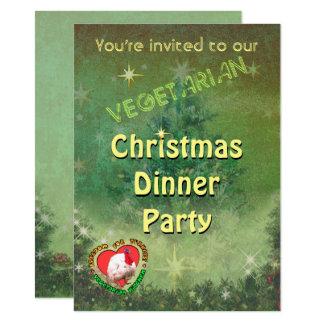 Vegetarische Weihnachtsabendessen-Einladung Karte
