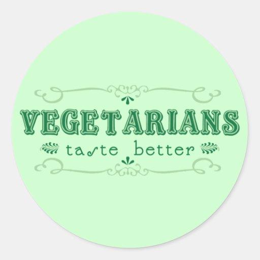 Vegetarischer Geschmack-Aufkleber