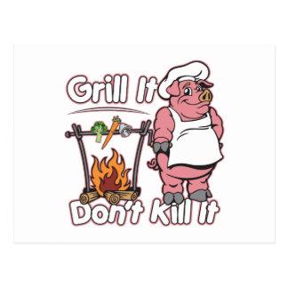 Vegetarischer Grill tötet es ihn nicht Postkarte