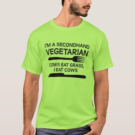 Vegetarischer lustiger gebrauchtT - Shirt