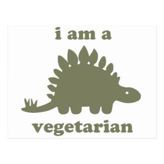 Vegetarischer Stegosaurus-Dinosaurier - Grün Postkarte