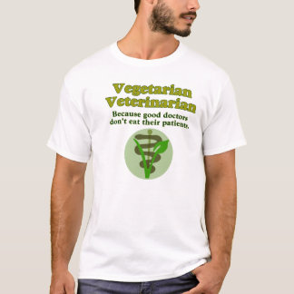 Vegetarischer Tierarzt T-Shirt