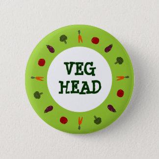 Vegetarischer/veganer bunter Veggies-Knopf Runder Button 5,7 Cm