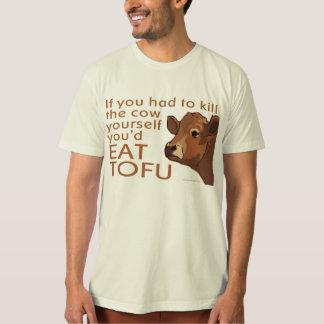 Vegetarischer veganer Fleisch-Tofu T-Shirt