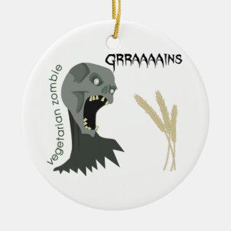 Vegetarischer Zombie will Graaaains! Keramik Ornament