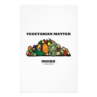 Vegetarisches Angelegenheits-Innere (Stapel des Briefpapier