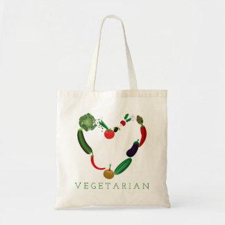 Vegetarisches Herz Tragetasche