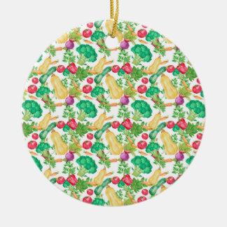 Vegetarisches Muster Keramik Ornament