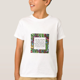 Vegetarisches Zitat Leonardo da Vincis T-Shirt