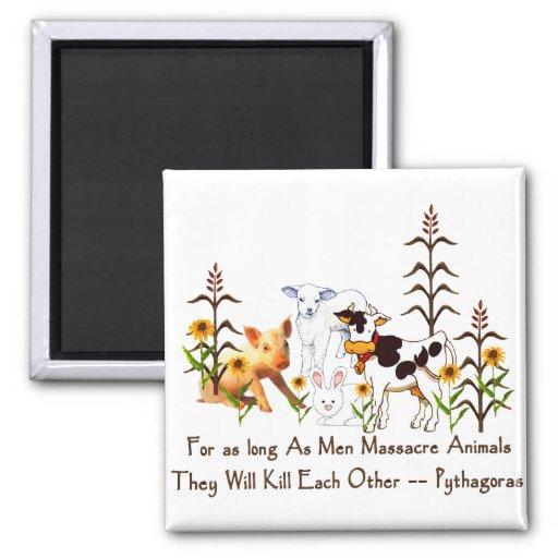 Vegetarisches Zitat Pythagorases Kühlschrankmagnete