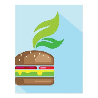 Veggie-Burger-vektorkunst Postkarte