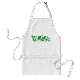 Veggie, für Vegetarier und Vegans-Schürze