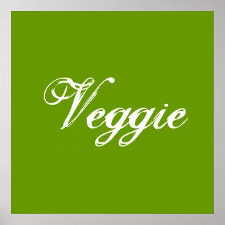 Veggie. Grün. Slogan Poster