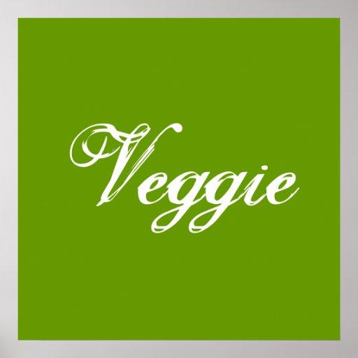 Veggie. Grün. Slogan Plakate