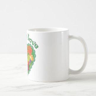 Veggie-Liebe-Herz Kaffeetasse