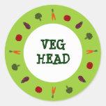 Veggies Veg vegetarische vegane Hauptaufkleber