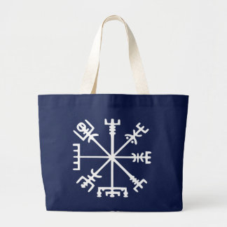 Vegvísir (Viking-Kompass) Jumbo Stoffbeutel