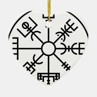 vegvisir Viking-Symbol-Skandinavier-Schild Odin Keramik Ornament