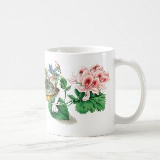 Veilchen-botanische Blumen-mit BlumenTasse Kaffeetasse
