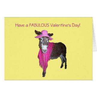 Veilchen der Esel gekleidet im Rosa Karte