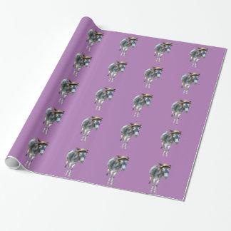 Veilchen der Esel im Strohhut mit Blumen Geschenkpapier