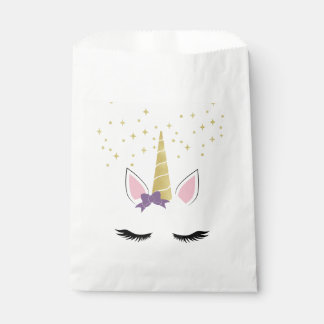 Veilchen die Einhorn-Bevorzugungs-Tasche Geschenktütchen
