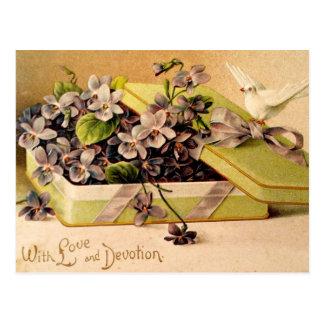 Veilchen - mit Liebe und Hingabe Postkarten